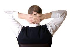 Businessman resting Stock Images