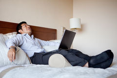 Businessman resting Stock Photos