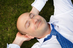 Businessman resting Royalty Free Stock Photos