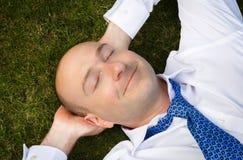 Businessman resting royalty free stock photos