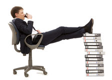 Businessman resting in armchair Royalty Free Stock Photography
