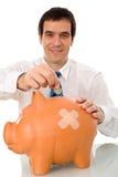 Businessman resuming savings Stock Photos