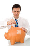 Businessman resuming savings Stock Image
