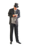 Businessman in a retro business suit Royalty Free Stock Photos