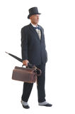 Businessman in a retro business suit Royalty Free Stock Images