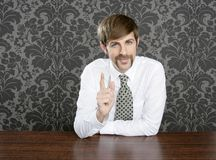Businessman retro on office table salesperson Stock Photos