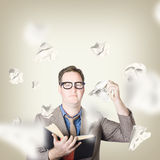 Businessman revising strategy in choice for change Royalty Free Stock Photography