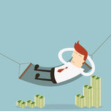 Businessman rich Royalty Free Stock Images