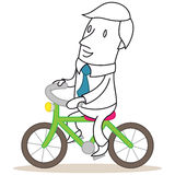 Businessman riding a bike Royalty Free Stock Photography