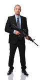 Businessman with rifle Stock Photos