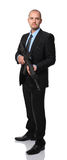 Businessman with rifle Royalty Free Stock Image