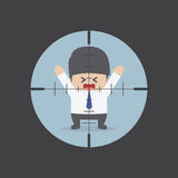 Businessman in the rifle sight. VECTOR, EPS10 Royalty Free Stock Photos