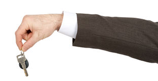 Businessman right hand with key Stock Image