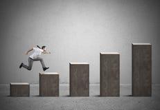Businessman rises statistics Royalty Free Stock Image