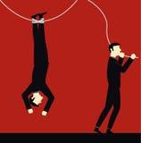 Businessman risk. Opportunity  illustration design Stock Photography