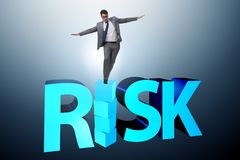 The businessman in risk and reward business concept Stock Photos