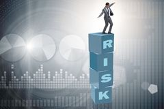 The businessman in risk and reward business concept Royalty Free Stock Photos