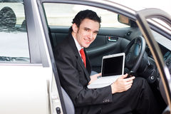 Businessman on the road Stock Photo