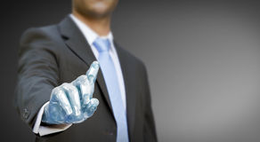 Businessman robot hand Stock Image