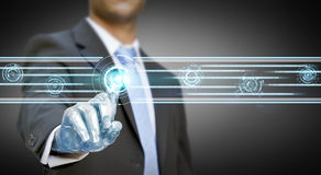 Businessman robot hand Royalty Free Stock Photography