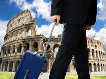 Businessman in rome city Stock Photography