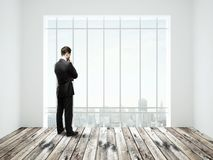 Businessman in room Royalty Free Stock Photos