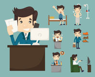 Businessman routine Royalty Free Stock Images