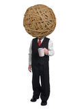 Businessman rubberband head Stock Images