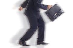 Businessman on the run Stock Photos