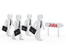 Businessman run for job Stock Photo