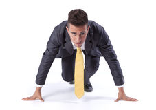 Businessman run start Stock Photos