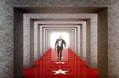 Businessman run into success way Royalty Free Stock Photography
