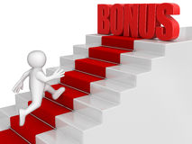 Businessman run to Bonus. Image with clipping path Stock Photography