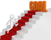 Businessman run to goal. Image with clipping path Stock Photo