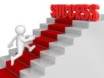 Businessman run to Success. Image with clipping path Royalty Free Stock Photo