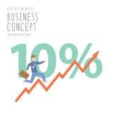 Businessman run up stock graph growing chart flat vector. Illustration vector  businessman run up stock graph growing chart flat style Stock Photos
