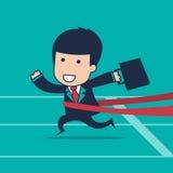 Businessman runner Stock Photo