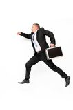 Businessman running Stock Photo