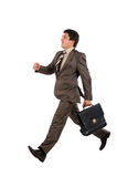Businessman running Royalty Free Stock Images