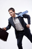 Businessman running Stock Photos