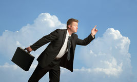 Businessman running Stock Photography