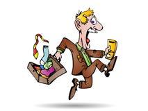 Businessman running away Royalty Free Stock Photography