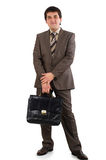 Businessman running with a briefcase Stock Photos