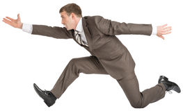 Businessman running fast Stock Photography