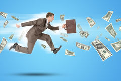 Businessman running forward Royalty Free Stock Photography