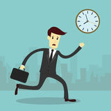 Businessman running and hurry up Stock Photography