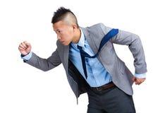 Businessman running Stock Image
