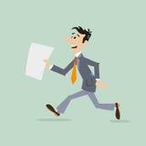 Businessman running late Stock Image