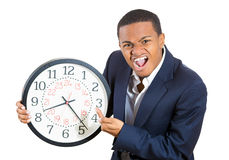 Businessman running out of time Royalty Free Stock Images