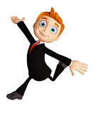 Businessman with running pose. 3d illustration of businessman with running pose Stock Photos